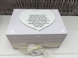 Shabby Personalised Chic In Memory Of A Loved One ~ Any Name ~ Memory Box ~